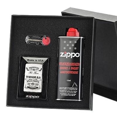 3pièces d'origine Zippo Briquet coupe-vent Ensemble cadeau avec gravure gratuit Original exclusif