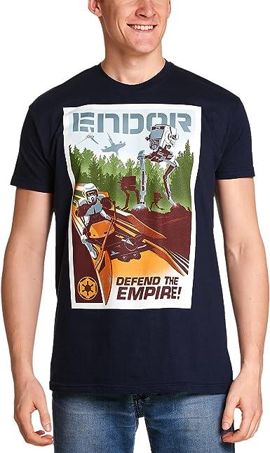 Elbenwald Star Wars de los Hombres de la Camiseta Endor ...