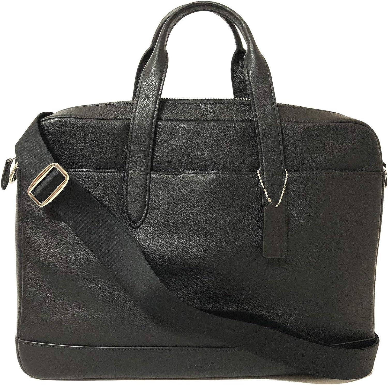 COACH Leather Hamilton Briefcase Laptop Bag (NI/Black)