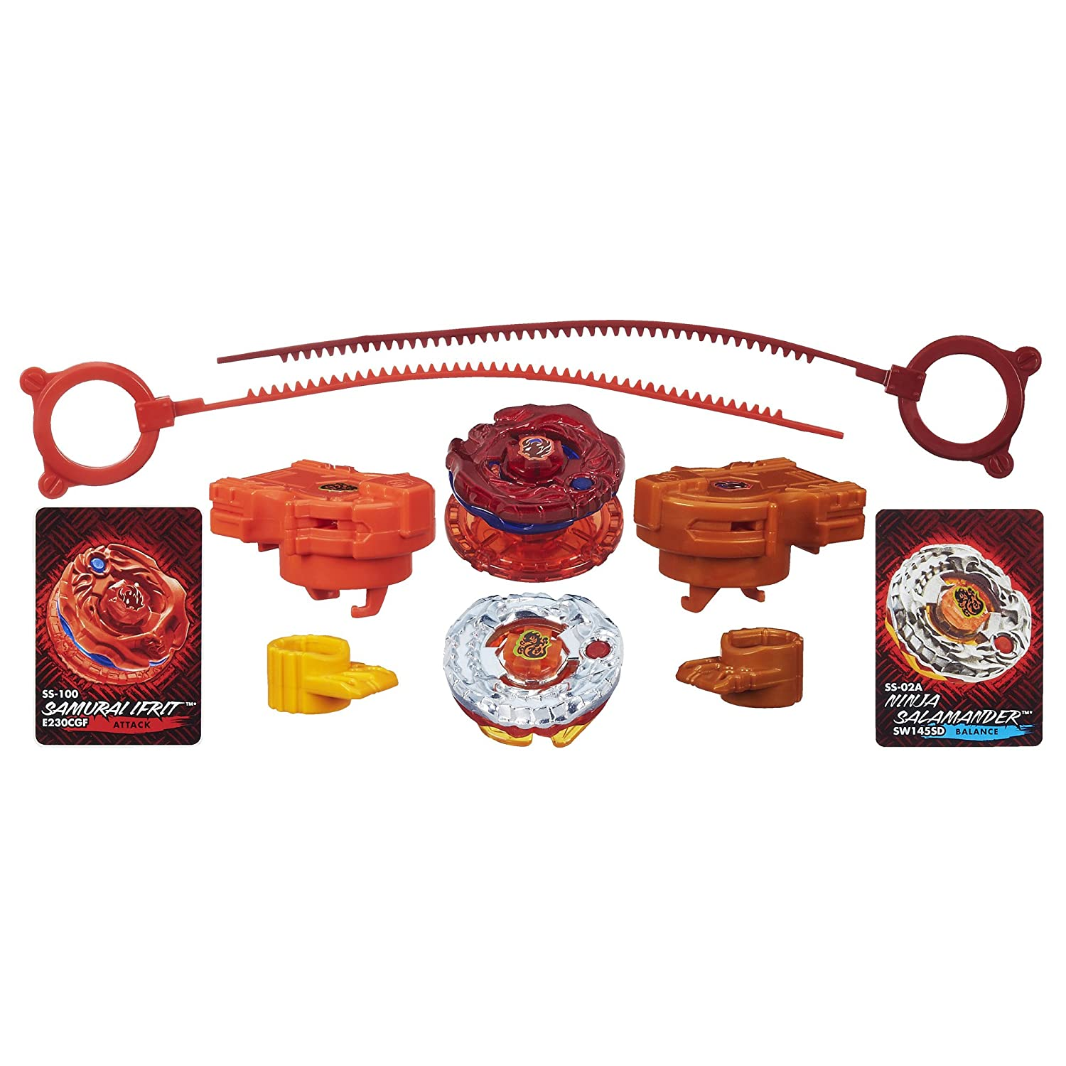 Beyblade Ifrit Salamander Fire Synchrome Tops (2-Pack) B00C6R7TJA
