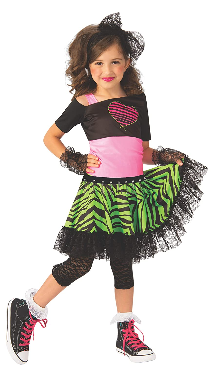 Large Rubies Opus Collection Childs 80S Material Girl Costume