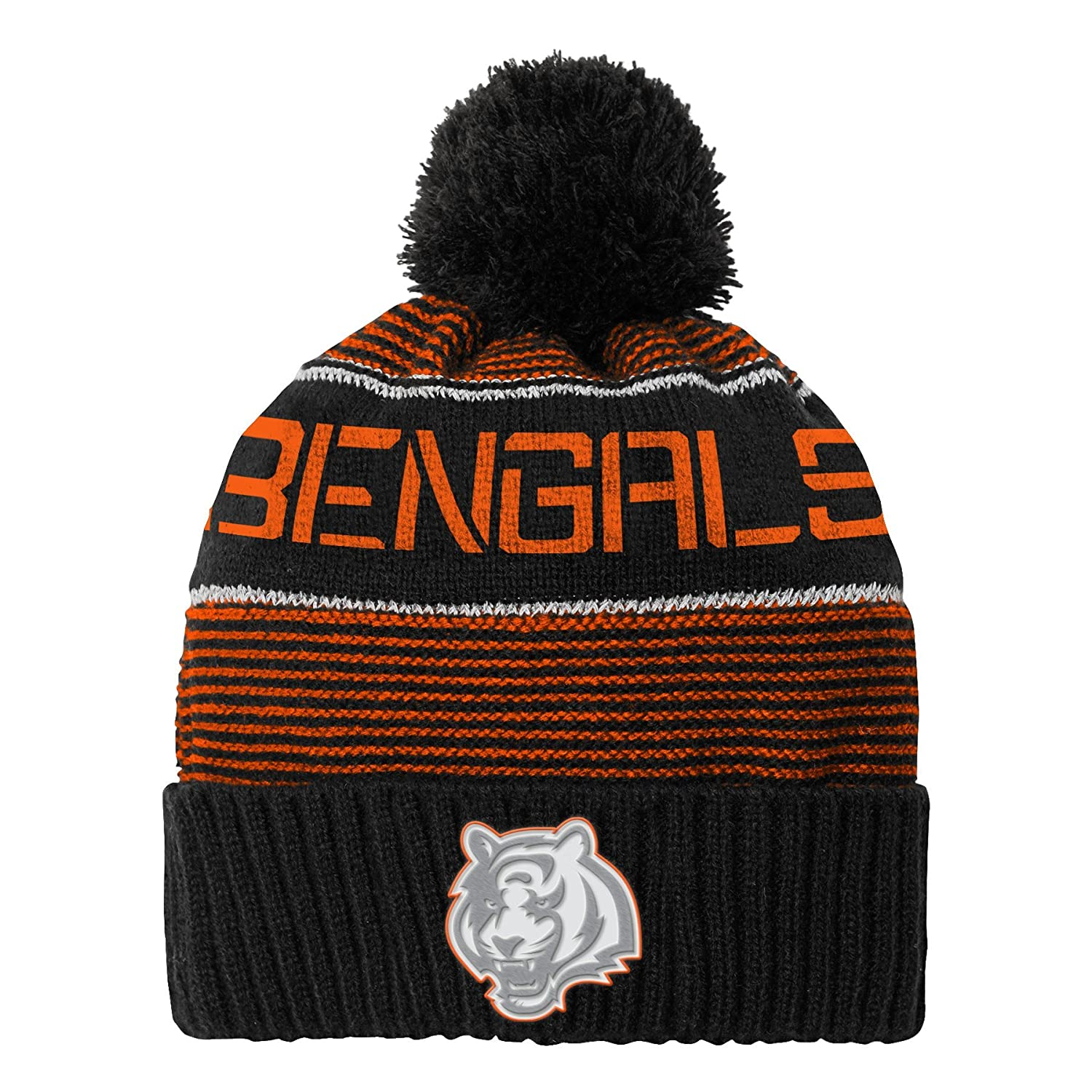 Outerstuff NFL Boys NFL Youth Boys Magna Reflective Cuffed Knit Hat with Pom