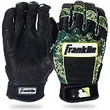 Franklin Sports MLB CFX Pro Digi Series Batting Gloves, Pearl/Green Camo, Youth Large