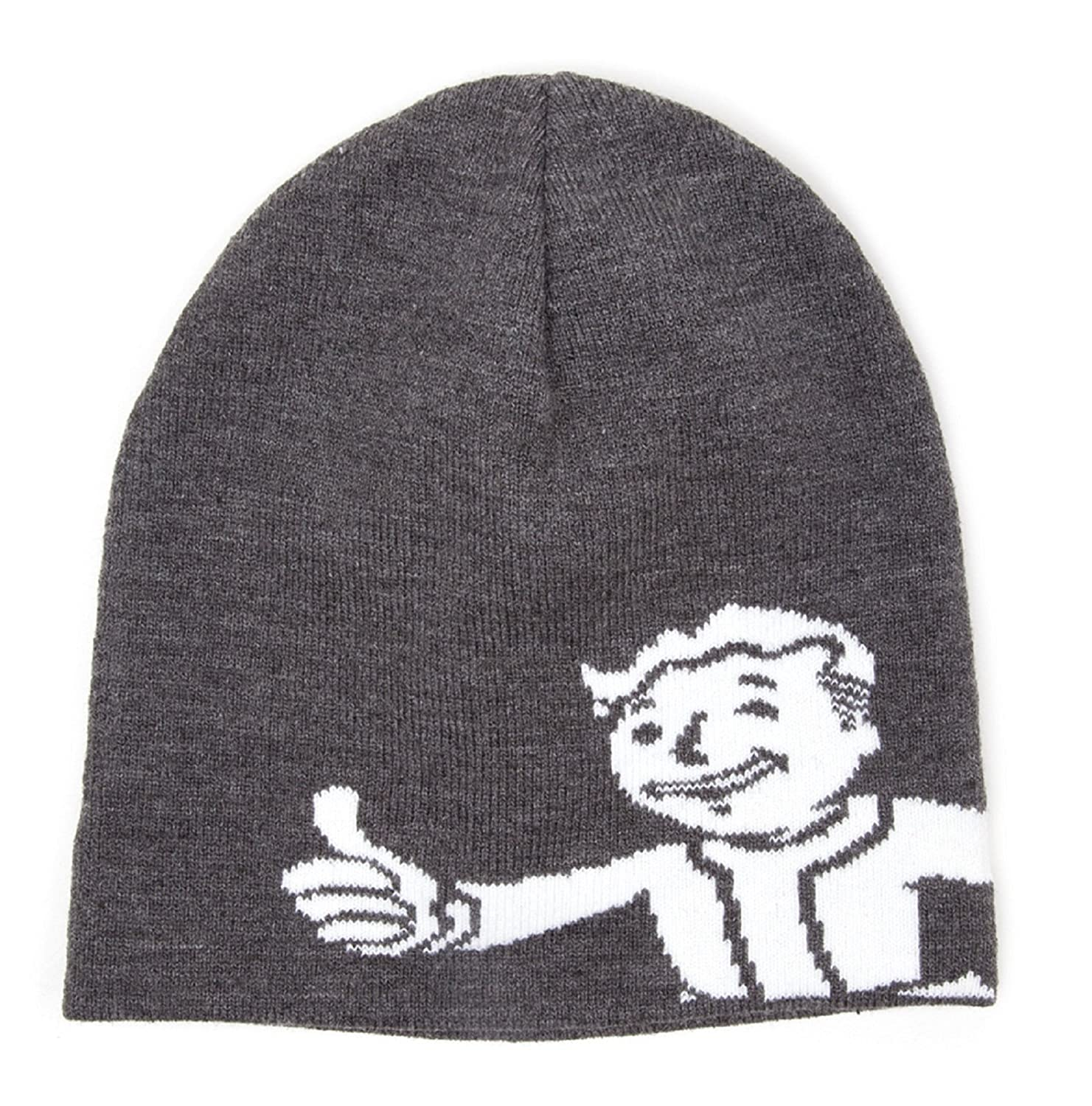 Fall Out 4 Beanie Hat Vault Boy Approves new Official PS4 Xbox Grey