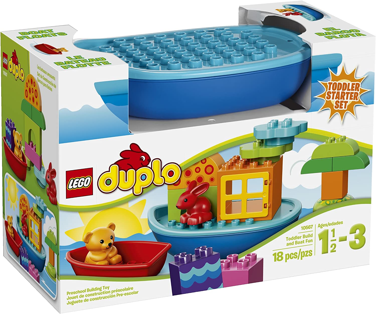 LEGO DUPLO Toddler Build and Boat Fun Building Set 10567(Discontinued by manufacturer)