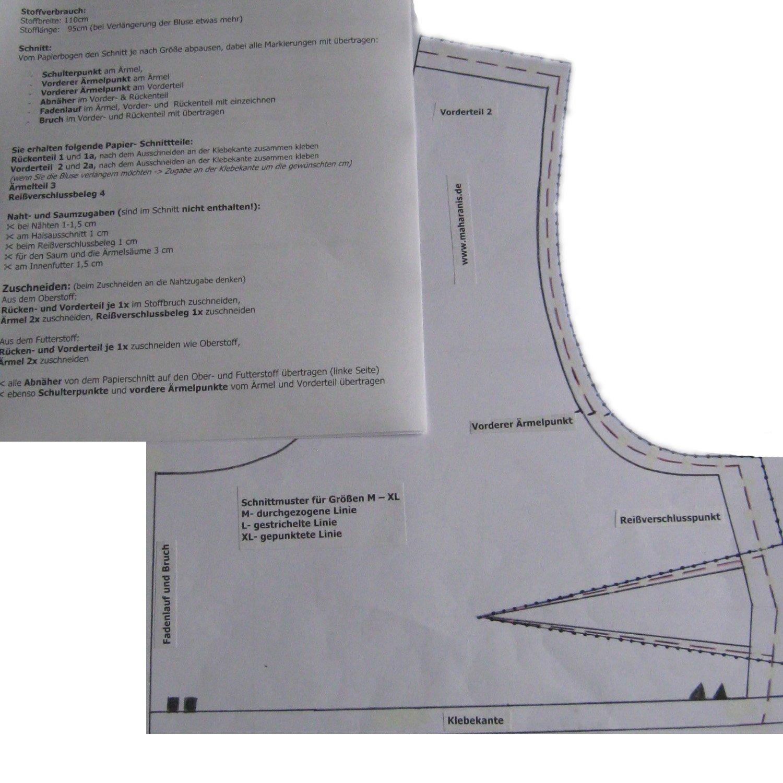 Magnificent Choli Schnittmuster Festooning - Decke Stricken Muster ...
