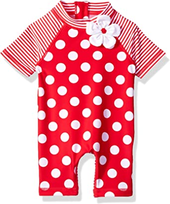 Little Me Baby Girls UPF 50 Short Sleeve Rashguard Suit