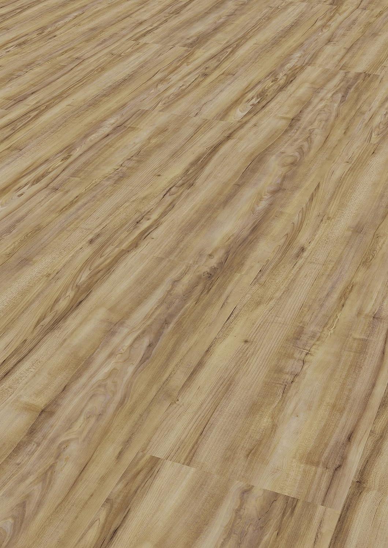 Tepcor Klick Vinylboden Premium Vinylbodenbelag mit Klicksystem Pflegeleichte und wasserfeste Vinyl Bodenbel/äge in vielen verschiedenen Farben Bianco
