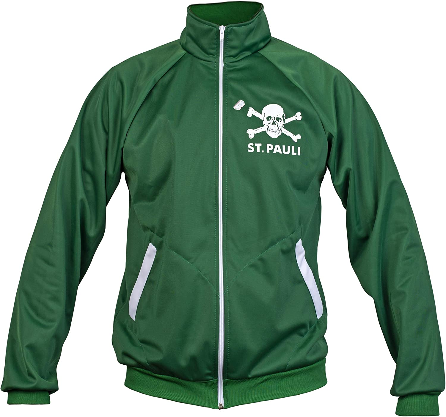 St. Pauli Green Ultras Skull Kult Crossbones Punk Activist Jacket Football Tracksuit Top