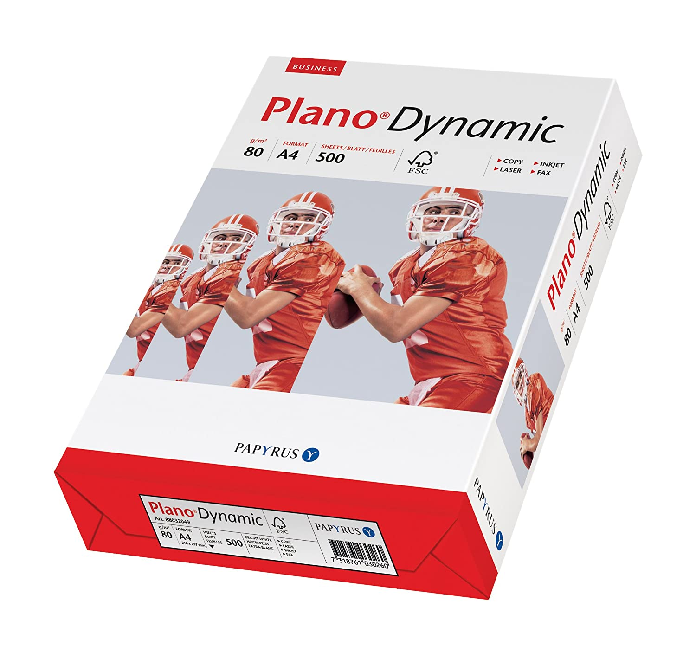 500 fogli con fori Papyrus PlanoDynamic 88027683-Carta multiuso 80 g//m/² colore: bianco 2 x formato A4