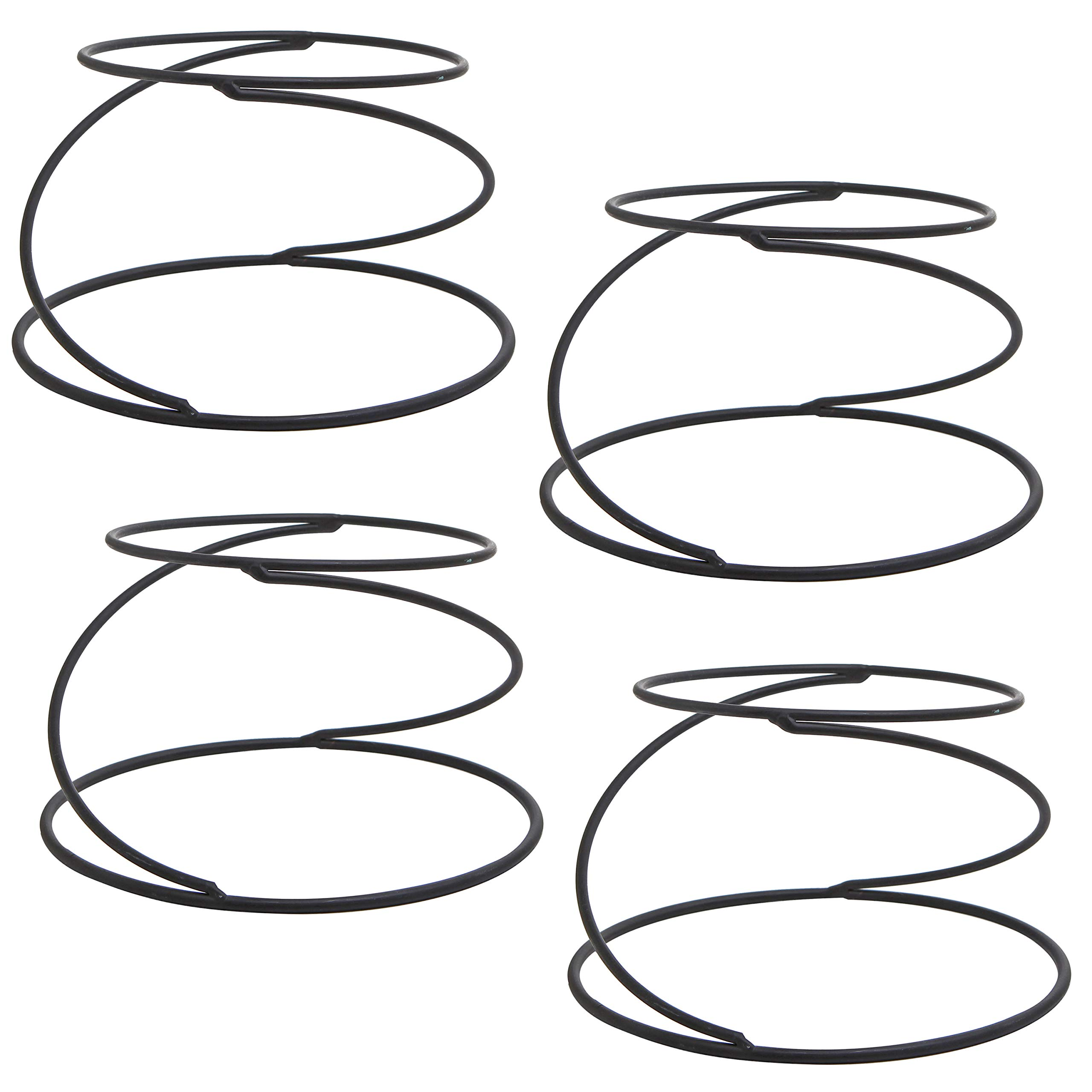 MyGift Set of 4 Metal Spiral Wire Tabletop Pizza Tray Stands, Black by MyGift (Image #7)