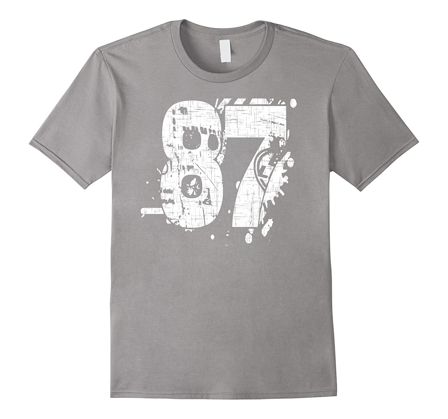 87 Numbered T-Shirt printed front and back in super grunge-PL