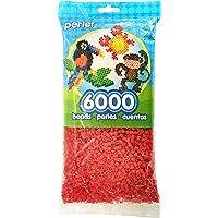 Perler - abalorio para Manualidades Infantiles, Color Verde Oscuro, Rojo, 1
