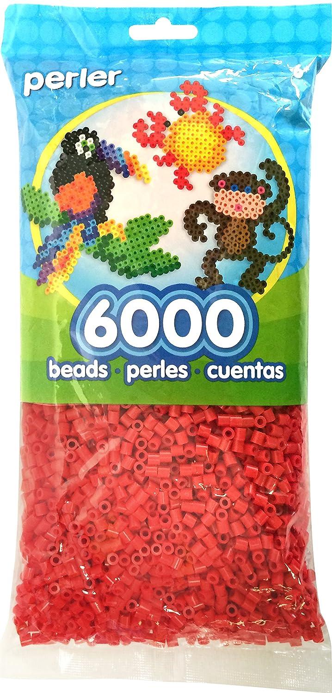 6000 - Bolso de perlas, color rojo