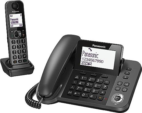 Panasonic KX-TGF310 - Teléfono Fijo Inalámbrico con Supletorio Portátil (2 en 1, LCD, Teclas Grandes, Agenda de 100 Números, Bloqueo de Llamadas, Modo ...