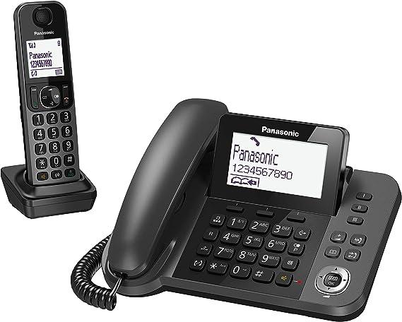 Panasonic KX-TF310 - Teléfono Fijo Inalámbrico con Supletorio Portátil (2 en 1, LCD, Teclas Grandes, Agenda de 100 Números, Bloqueo de Llamadas, Modo ECO, Reducción Ruido, Manos Libres) Color Negro: BLOCK: Amazon.es: Electrónica