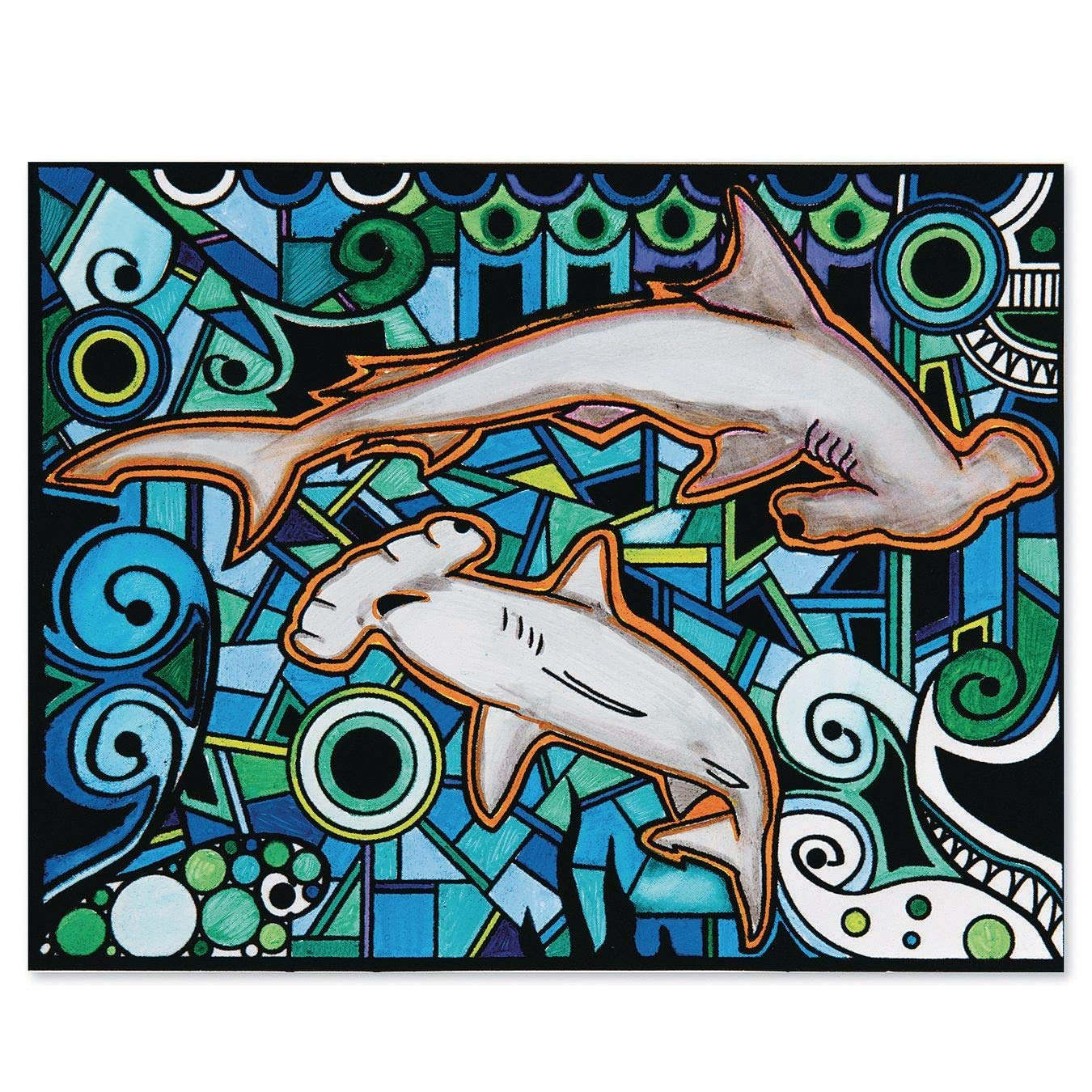 Posters Pack of 12 Velvet Art Sharks