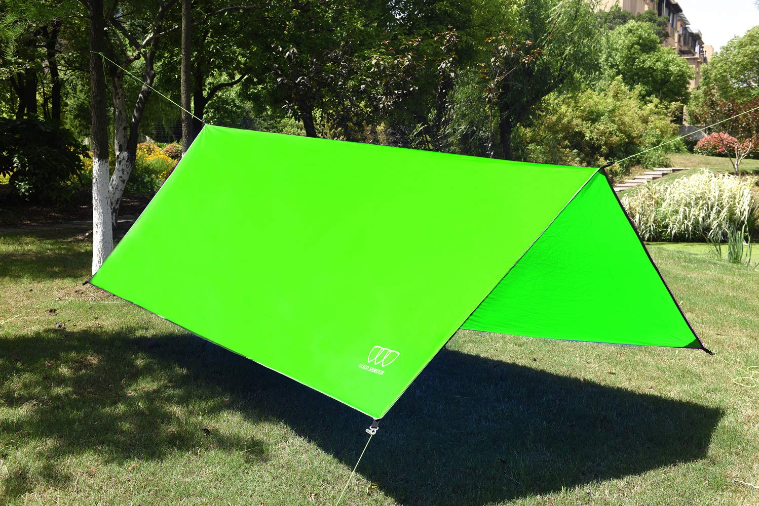 Gold Armour 12/' XL TARP Hammock Waterproof RAIN Fly Tent TARP 185 Centerline Multiple Colors Survival Gear Backpacking Camping Accessories Stakes Included Lightweight Ripstop Fabric