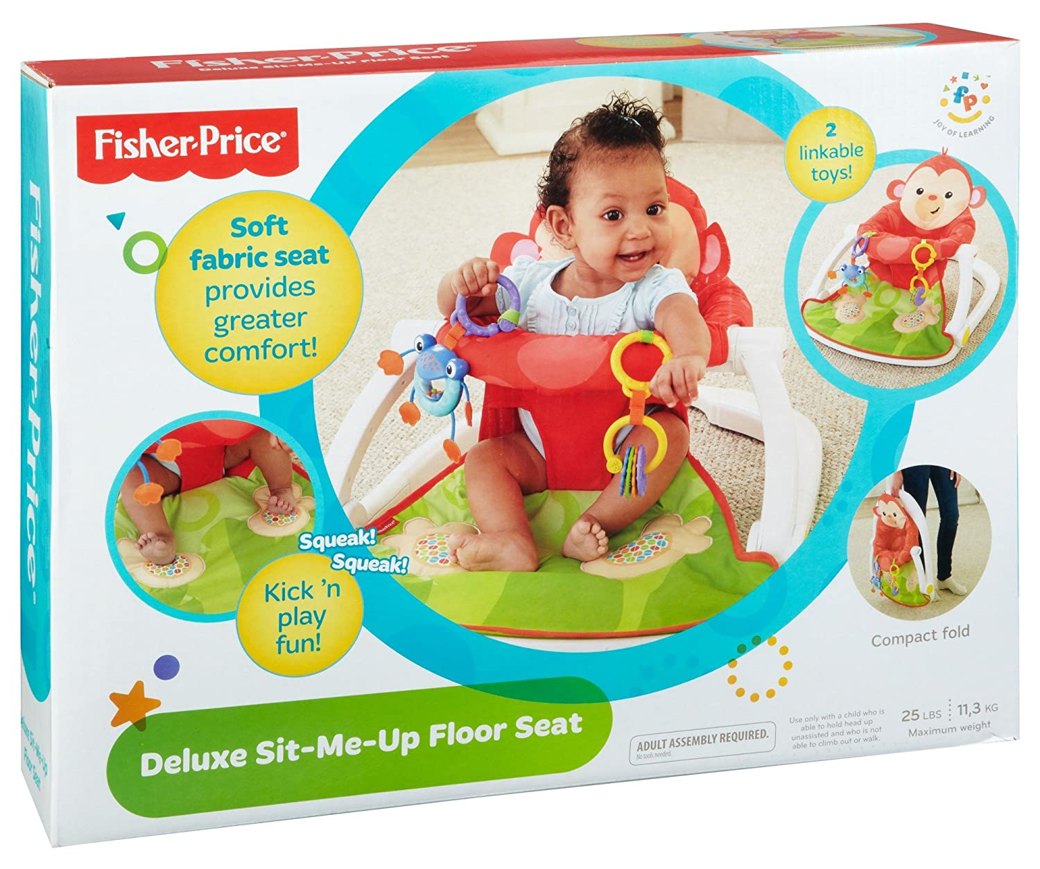 Fisher-Price Deluxe Sit-Me-Up Floor Seat Mattel Fisher-Price BFB15