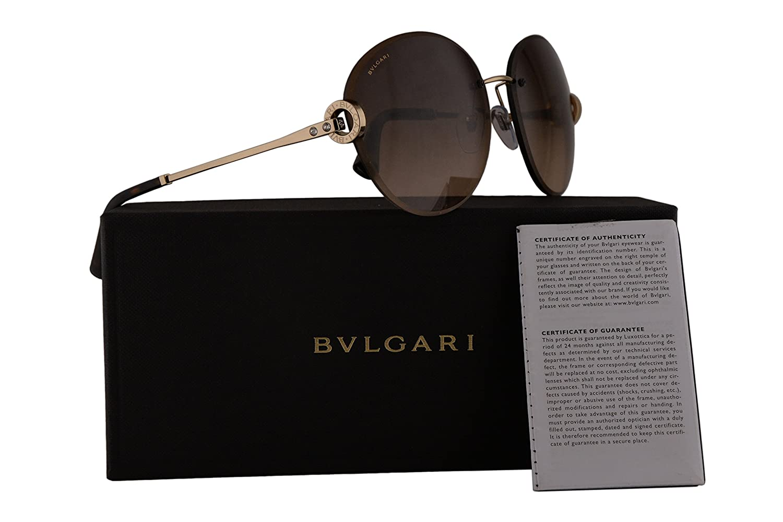 Bvlgari BV6091B Sunglasses Pale Gold wBrown Gradient Lens