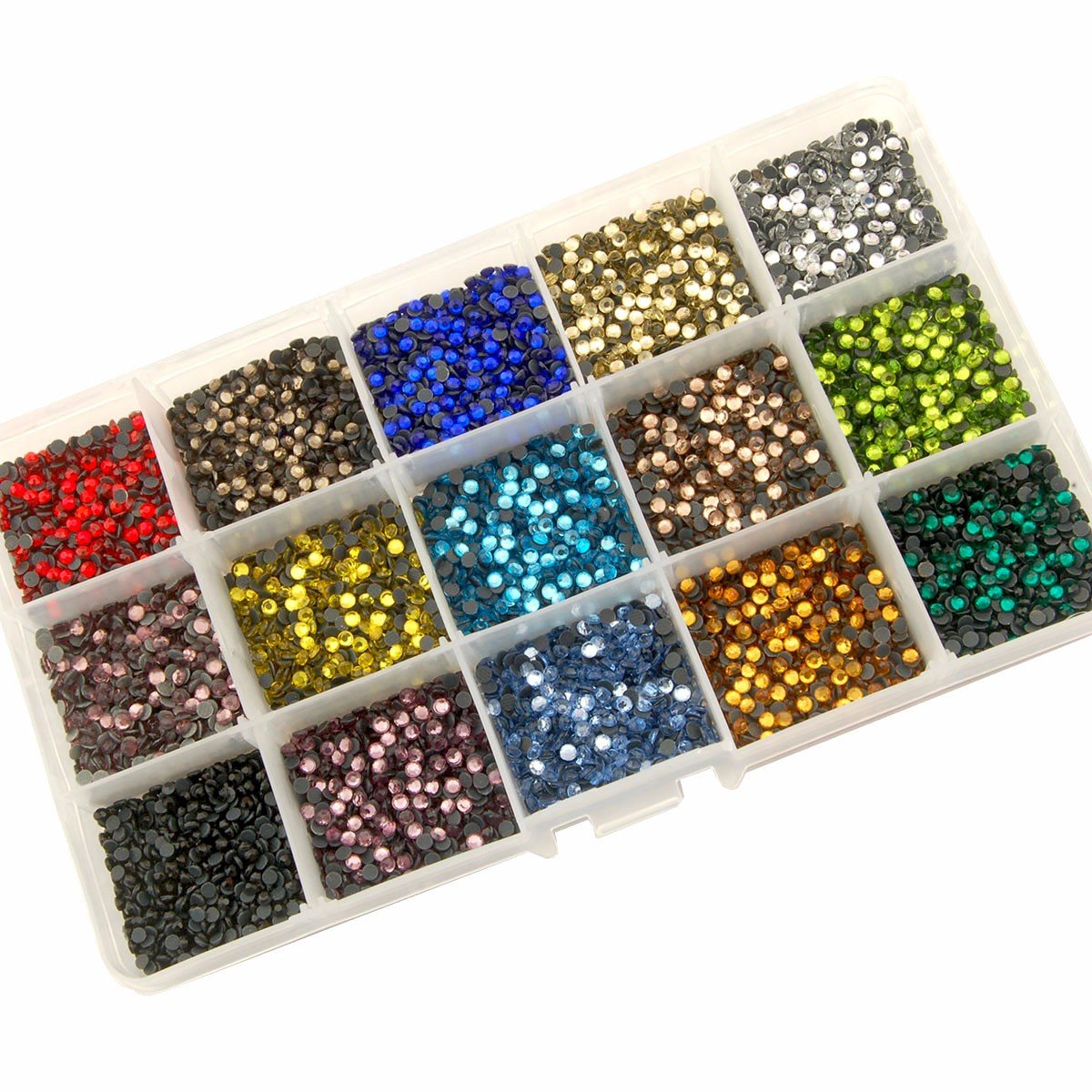 Summer-Ray SS10 2.8mm Assorted Colors Hot Fix Rhinestones In Storage Box by Summer-Ray.com