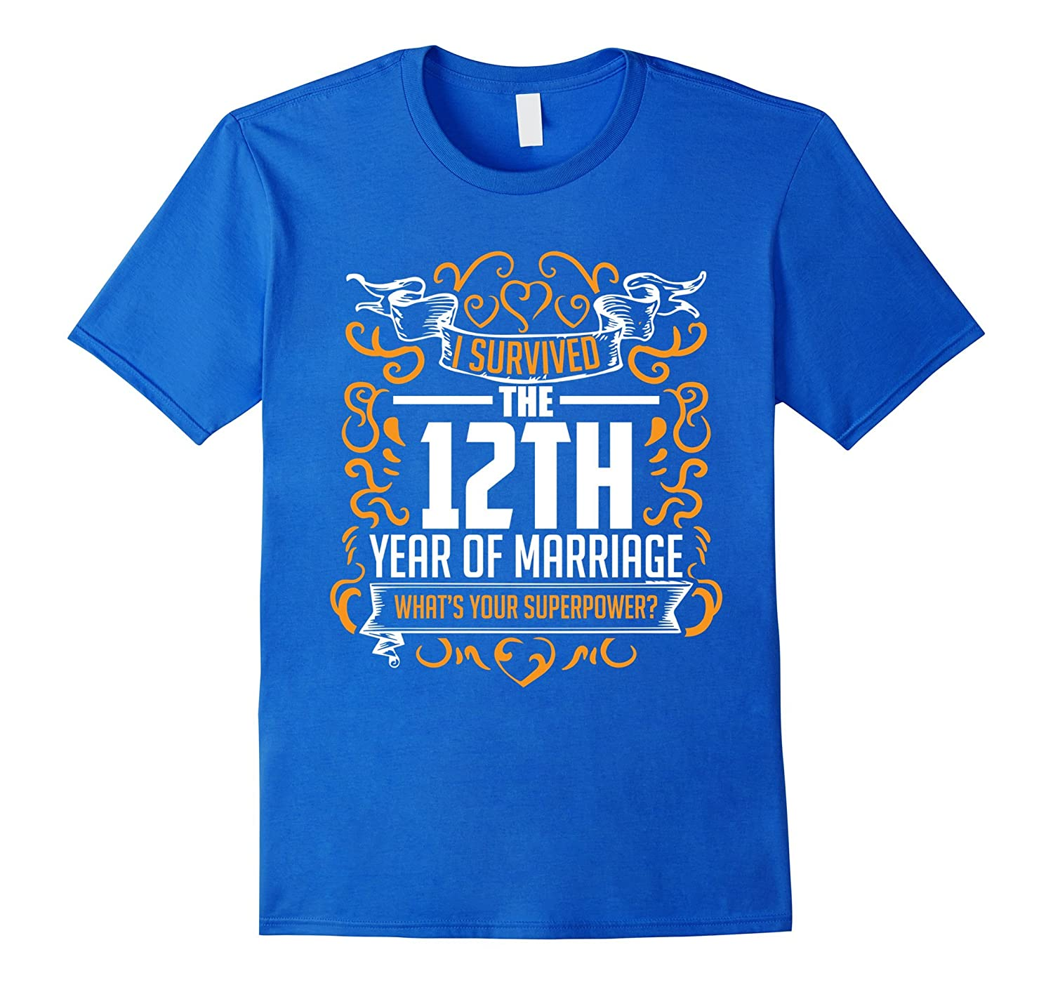 12th Wedding Anniversary Gifts 12 Year T Shirt For Her & Him-Teeae