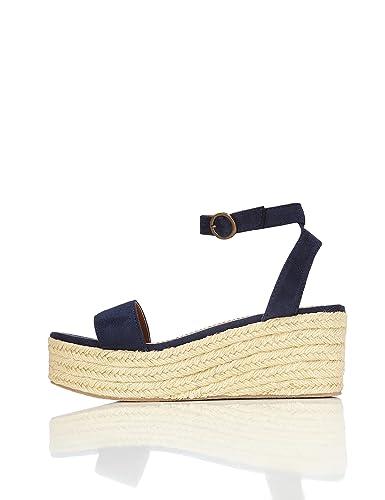 a3629f21b40da9 Sandales Espadrilles Compensées Femme, Bleu (Navy), 37 EU: Amazon.fr:  Chaussures et Sacs