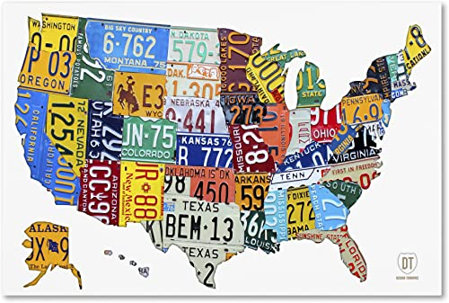License Plate Map USA 2