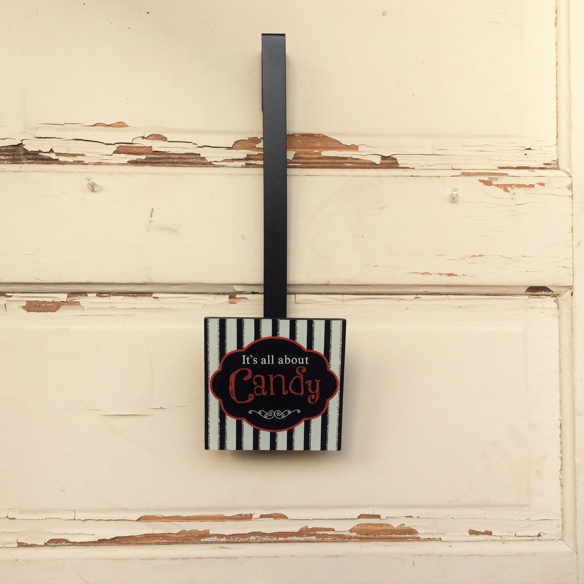 AG Designs Halloween Decor - Wreath Door Hanger It's All About the Candy