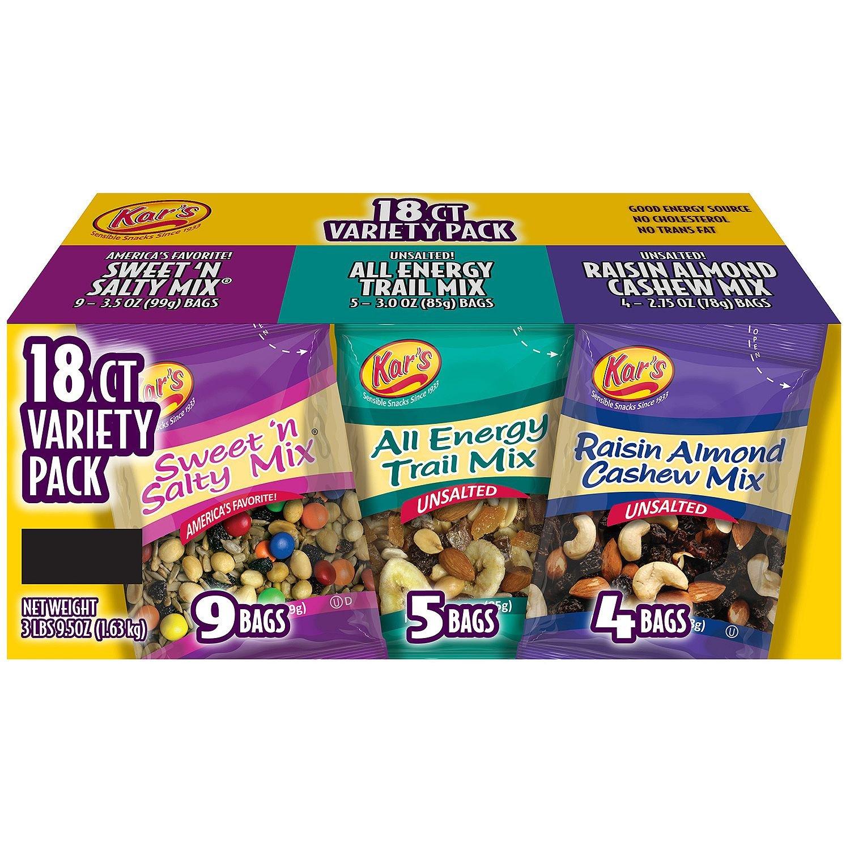 Kar's Nut & Fruit Mix Variety Pack (18ct.) A1