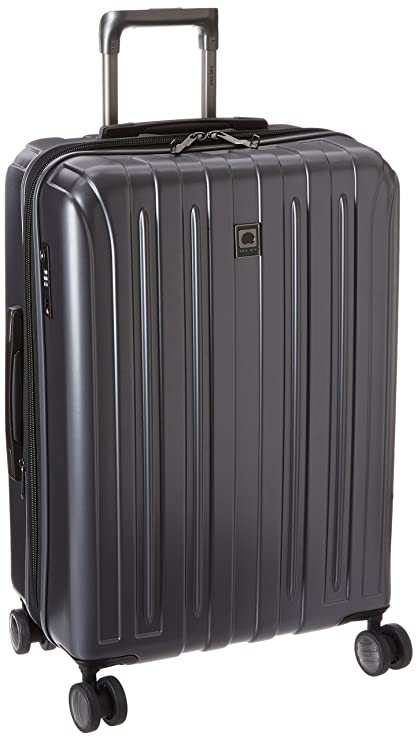 Delsey Paris Luggage 25 Inch Expandable Spinner Suitcase Hardsided With Lock Hard Case, Graphite One Size by Delsey Paris