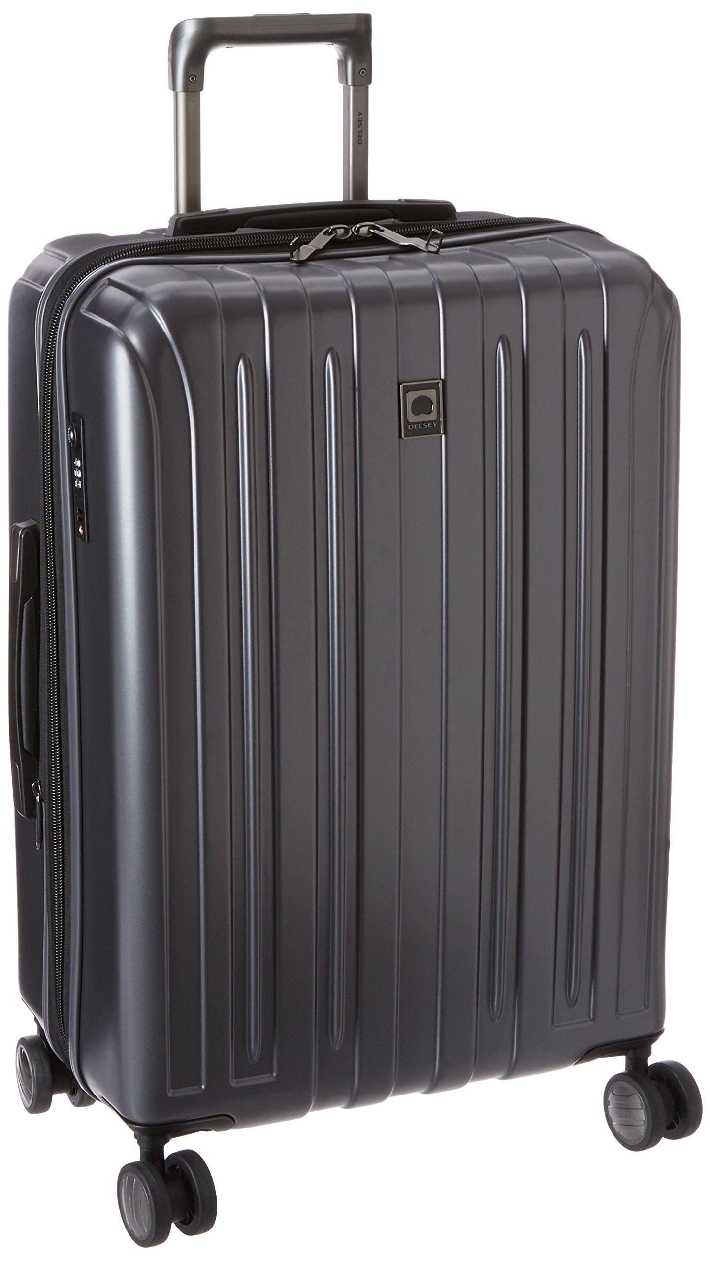 DELSEY Paris Luggage Helium Titanium 25'' Spinner Trolley Hard Case Suitcase, Graphite One Size