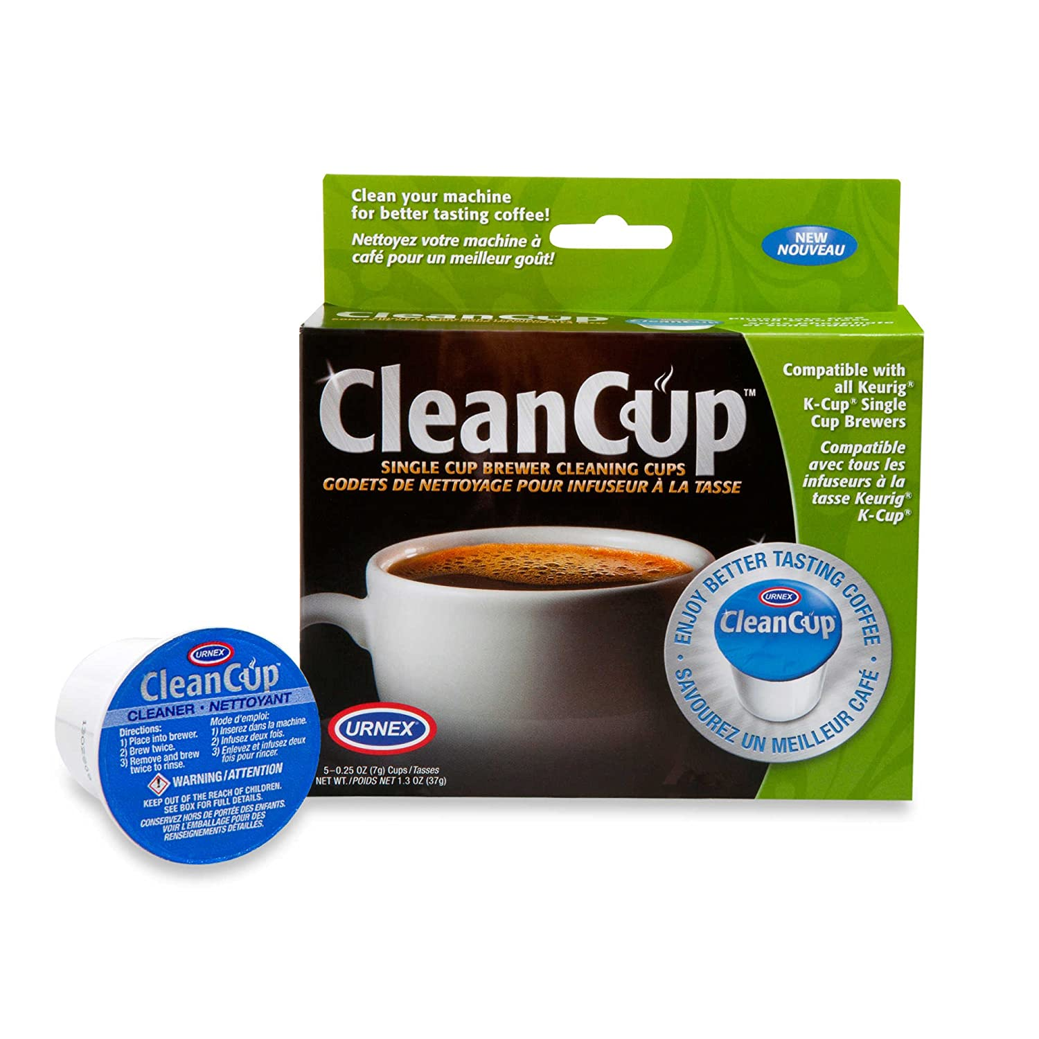Urnex 5-Count CleanCup Single Brewer Cleaning Cups
