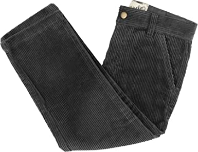 Buyless Fashion Boys Pants Flat Front Slim Fit Casual Corduroy Solid Color