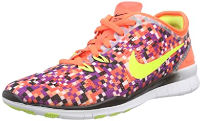 pick up 172d0 e6927 Nike Free TR 5.0 Fit 5 Print, Chaussures Multisport Indoor Femme -  Multicolore - Mehrfarbig