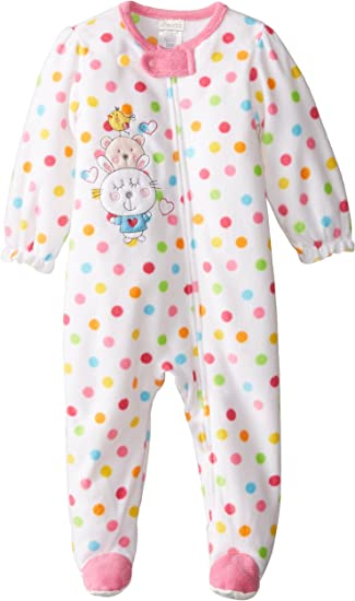 absorba Baby Girls Footie-Pockets