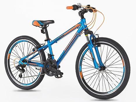 Bicicleta de aluminio de 24 pulgadas con cambios Shimano para niños de 7 a 14 años: Amazon.es: Deportes y aire libre