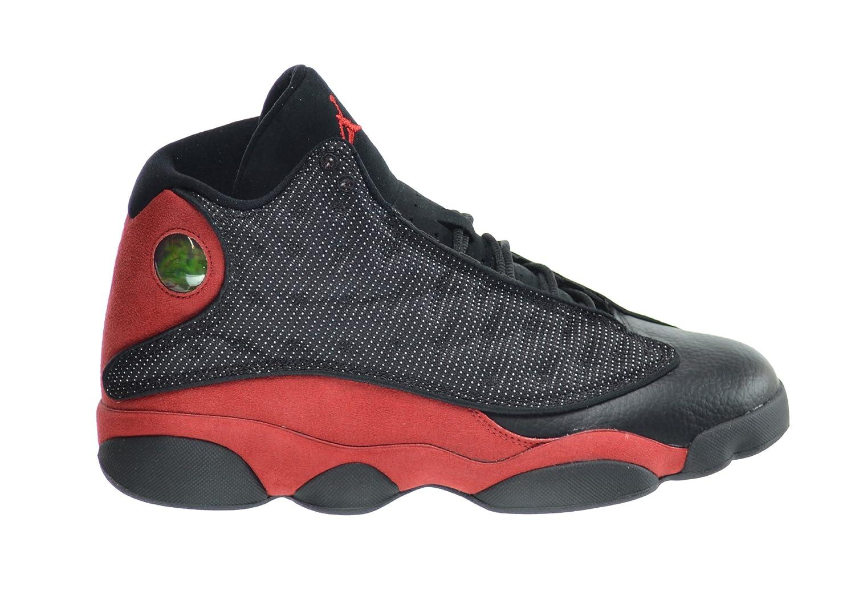Nike Herren Air Jordan 13 Retro Turnschuhe, Schwarz  75|Black, Varsity Red-white