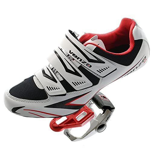 Venzo Road Bike For Shimano SPD SL Look Cycling Bicycle Shoes & Pedals 42.5 ZgVmekcu