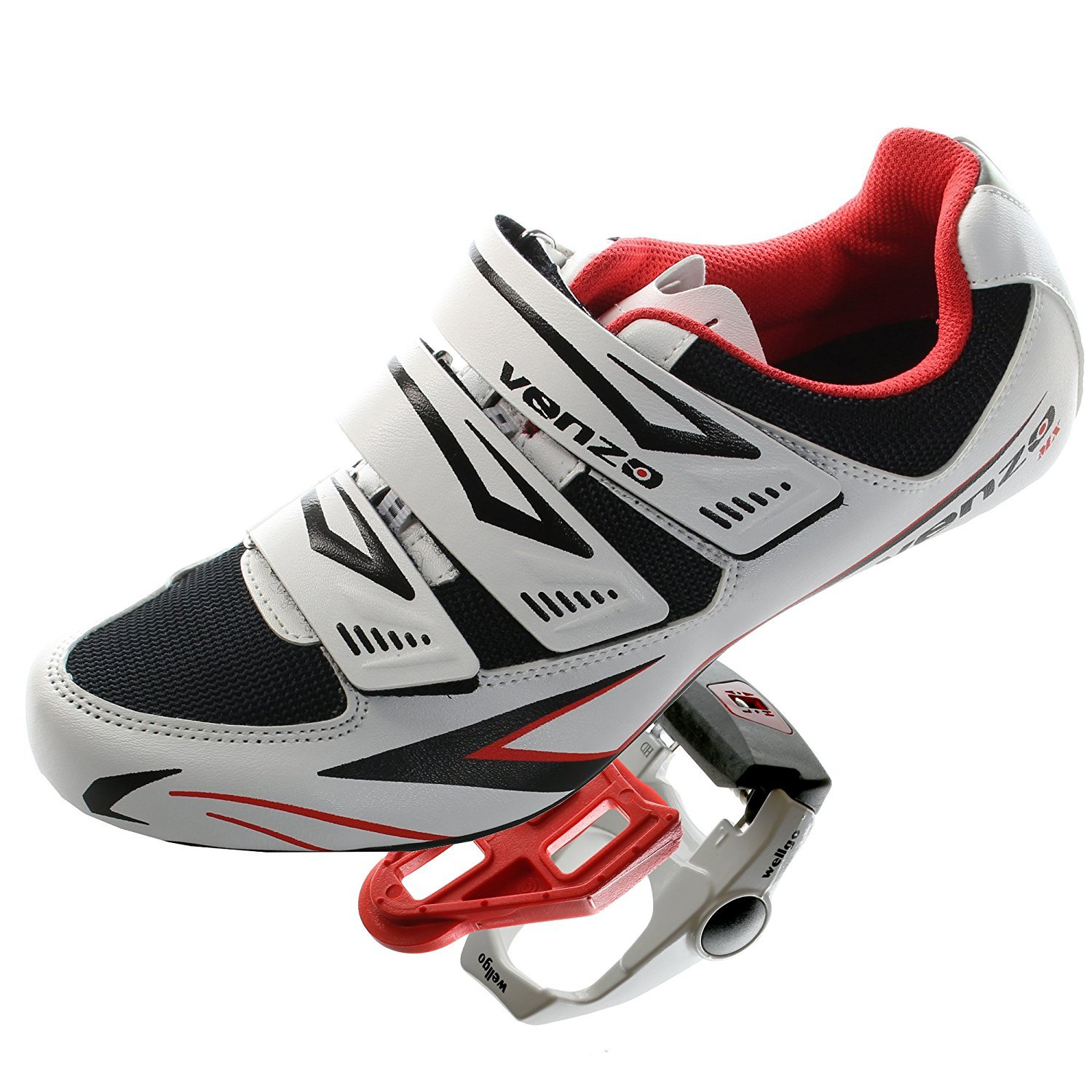 Venzo Road Bike For Shimano SPD SL Look Cycling Bicycle Shoes & Pedals 42.5 by Venzo