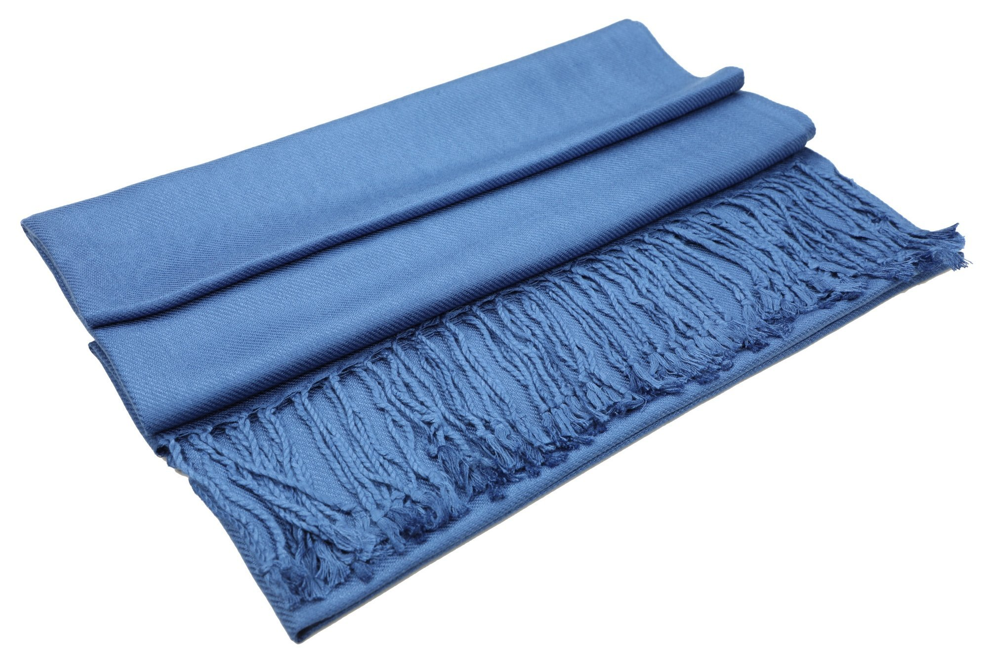 Achillea Large Soft Silky Pashmina Shawl Wrap Scarf in Solid Colors (Cobalt Blue) by Achillea (Image #4)