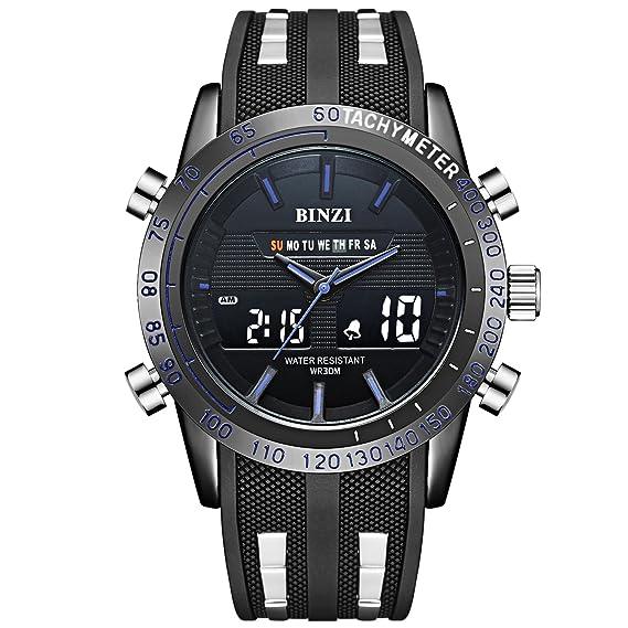 Hombre Deporte Militar reloj de hombres Digital Cuarzo Reloj de pulsera de lujo Digital de Pantalla