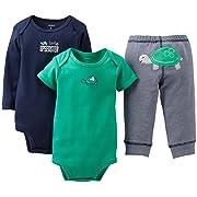 Carter's Baby Boys' 3 Piece Take me Away Set (Baby) - Lil Speedster - Navy - Newborn