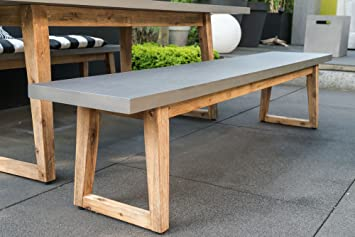 Gartenbank modern beton  Amazon.de: Matodi Linea Beton Gartenbank Sitzbank 200 cm Bank