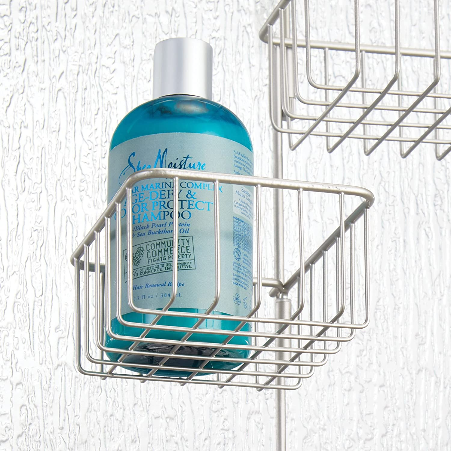 Amazon.com: mDesign Over Door Bathroom Tub & Shower Caddy, Hanging ...