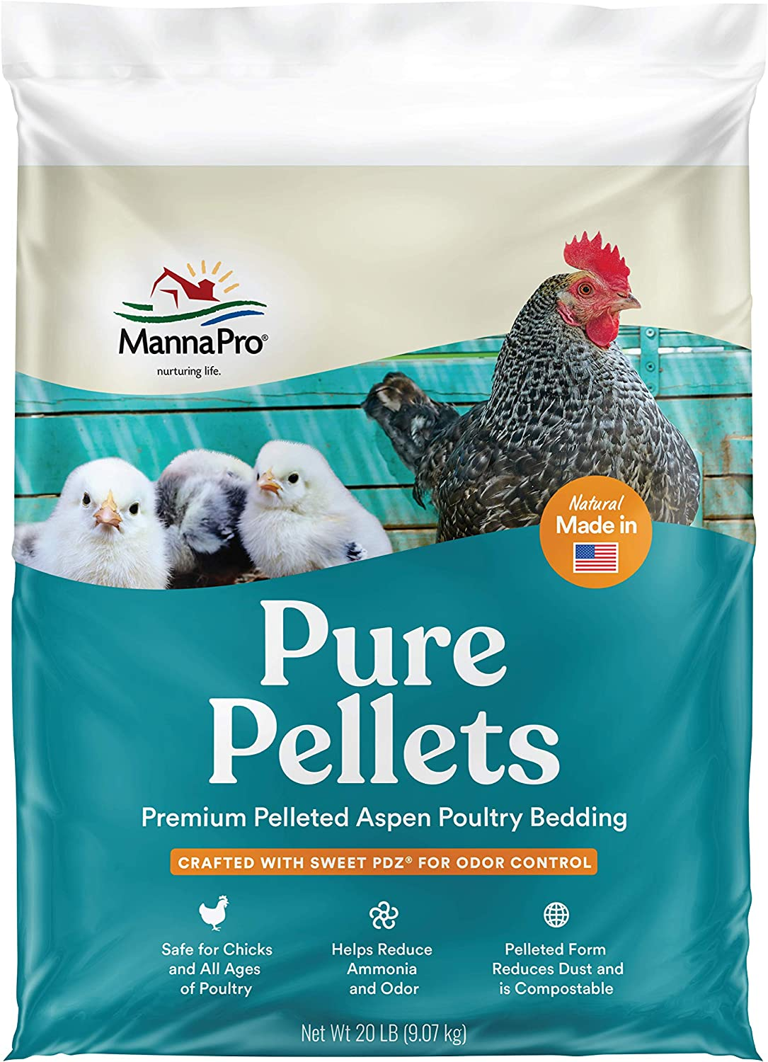 1030473 Manna Pro Pure Pellets Poultry Bedding with Sweet PDZ 20lb
