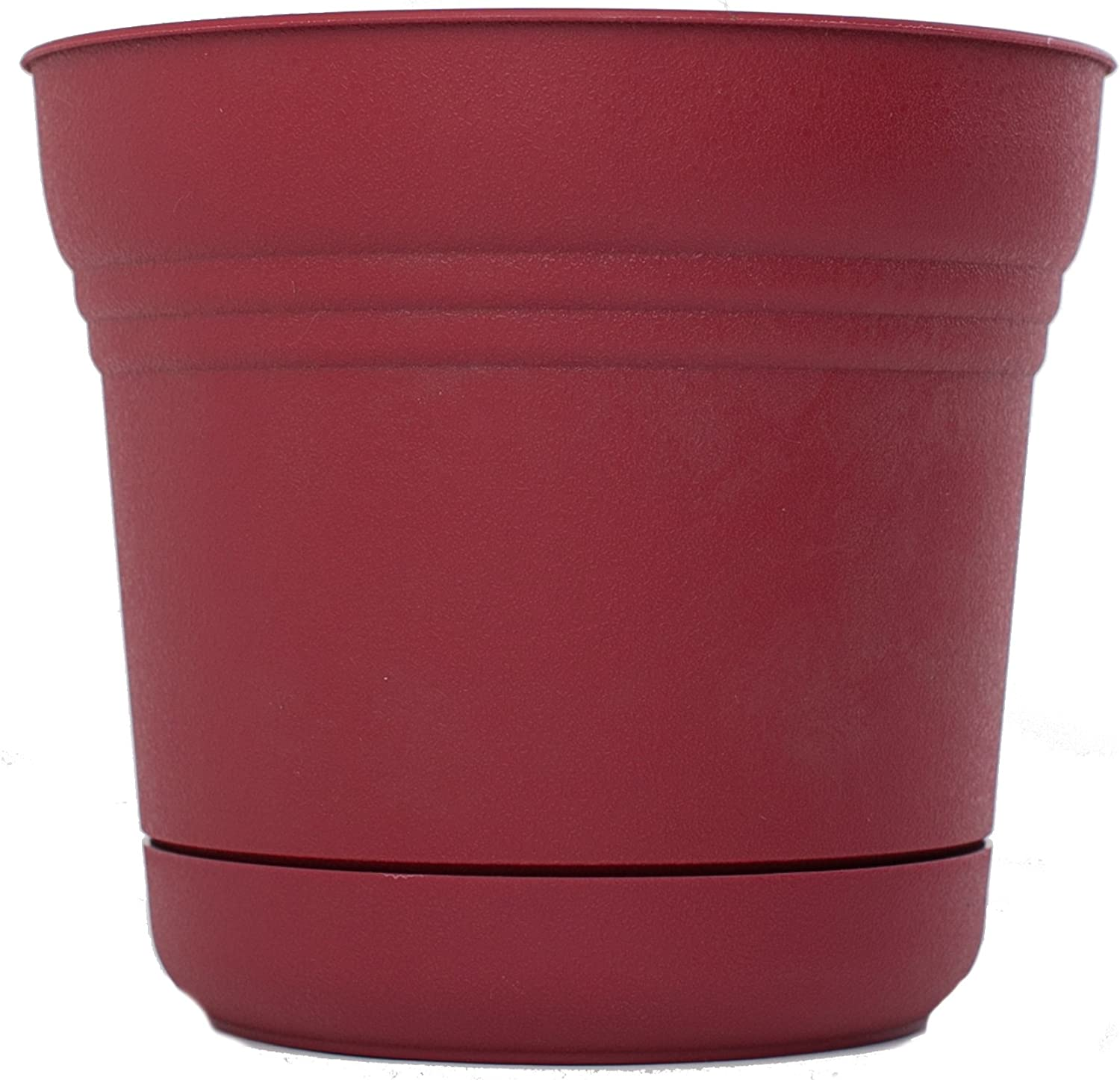 Bloem 818573014757 SP0712 Saturn Planter, 7-Inch, Union Red
