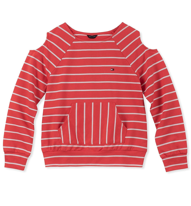 Tommy Hilfiger Girls Cold Sholder Stripe Hoodie