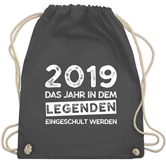 472b6ee1f9f00 Einschulung - 2019 Das Jahr in dem Legenden eingeschult werden - Unisize -  Dunkelgrau - WM110