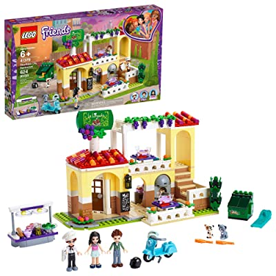 LEGO Friends Heartlake City Restaurant 41379 Restaurant Playset with Mini Dolls and Toy Scooter for Pretend Play, Cool Building Kit includes Toy Kitchen, Pizza Oven and more (624 Pieces): Toys & Games